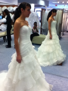 Wedding gown side